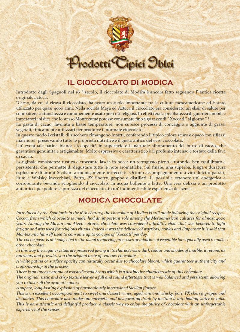 Bugiardino Cioccolato di Modica