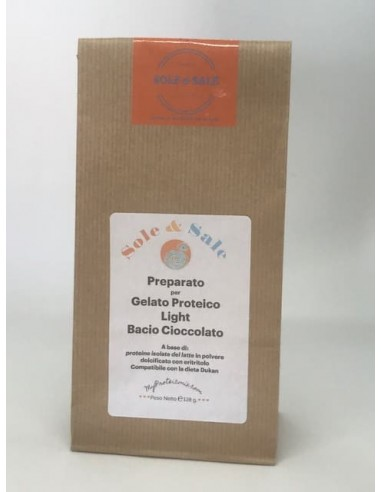 Preparato per Gelato Proteico - Gusto ciocco-bacio