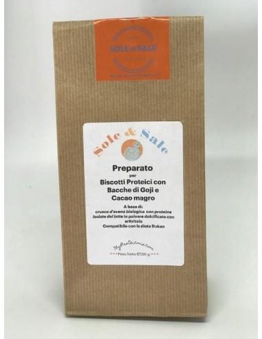 Preparato per Biscotti Light proteici con Cacao Magro e Bacche di Goji
