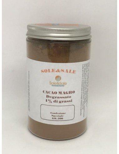 Cacao Magro in barattolo 1% grassi 200 g