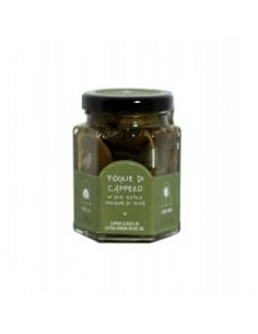 Pantelleria Caper leaves in oil 100 g